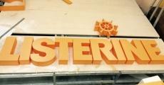 """Объемные буквы """"Listerine"""""""